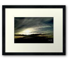 Cloudy day in Wagga Framed Print
