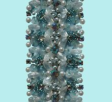 Powder Blue Vintage Bling  by MHen