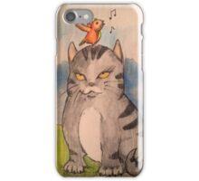 cat and bird iPhone Case/Skin