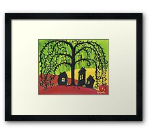 Weepy Willow Framed Print