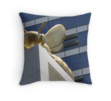 Waiting for the Swarm Throw Pillow
