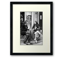 Le Conversation Framed Print