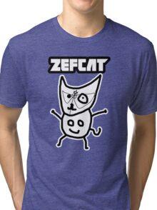 Zef Cat Tri-blend T-Shirt