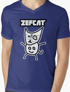 Zef Cat Mens V-Neck T-Shirt