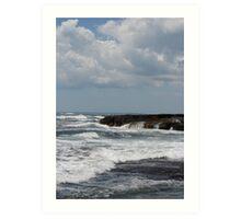 Rough Waters in Newport, RI Art Print