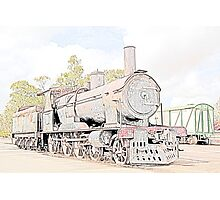 Rusting Steam Train 2 Photographic Print