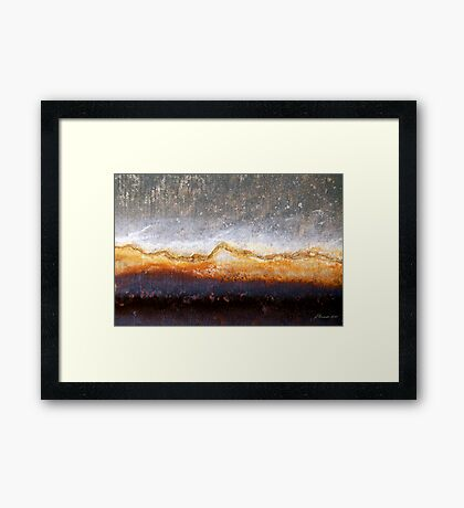 Barren Blizzard Framed Print