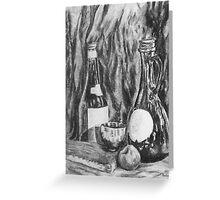Charcoal Still Life Greeting Card
