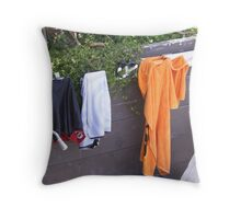 The Lifeguard's Laundry! Throw Pillow