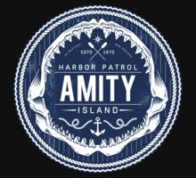 Amity Island Harbor Patrol Kids Tee