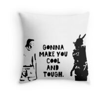 Cool and Tough Throw Pillow