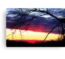 Sunset In December Canvas Print