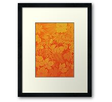 Luxuriant Orange Framed Print