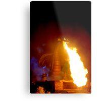 Fire Dragon At Disneyland Metal Print