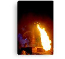 Fire Dragon At Disneyland Canvas Print