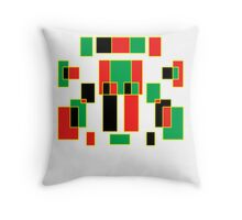 red, green, yellow & black Throw Pillow