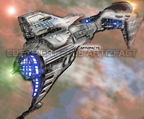 nuba-escape-cruiser by Kevin McDowell