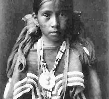 Jicarilla Apache Girl, New Mexico, USA by Dennis Melling
