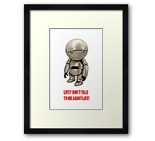 Marvin The Hitchhiker's Guide to the Galaxy Framed Print