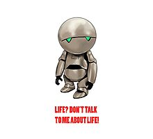 Marvin The Hitchhiker's Guide to the Galaxy Photographic Print