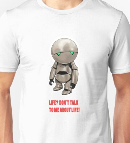 Marvin The Hitchhiker's Guide to the Galaxy Unisex T-Shirt