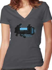 Sci-Fi Plasma Cannon Women's Fitted V-Neck T-Shirt