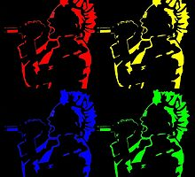 Jared Leto Punk Mohawk Pop Art by Annabel-Jane