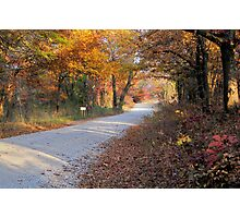 Country Fall Road Photographic Print