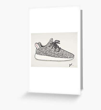 Yeezy Boost 360 Illustration Greeting Card
