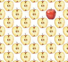 Pattern with apple slice  by Gribanessa