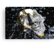 Zen Meditation in The Water Buddha Face Canvas Print