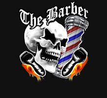 Barber Skull and Flaming Razors Unisex T-Shirt