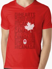 We All Play for Canada (Red) Mens V-Neck T-Shirt