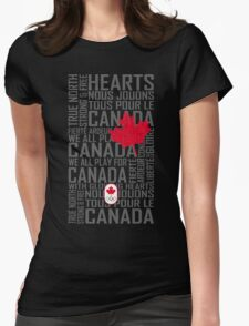 We All Play for Canada (Black) Womens Fitted T-Shirt