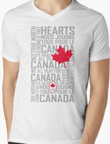 We All Play for Canada (White) Mens V-Neck T-Shirt