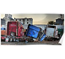 Truck Grave Yard - HDR Poster