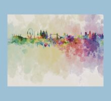 London skyline in watercolor background Kids Clothes