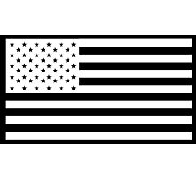 American Flag, America, Americana, NEGATIVE on black, Stars & Stripes, Pure & Simple, USA Photographic Print