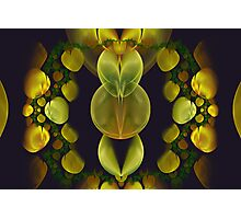 Abstract Yellow Forms Photographic Print