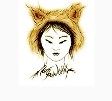 Cat Tee, Not your Kitty- Mongolian Gold Womens Fitted T-Shirt