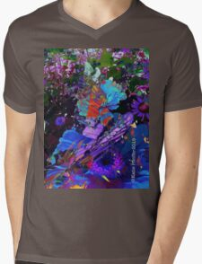 Abstract Butterfly photo collage Mens V-Neck T-Shirt