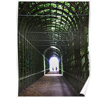 Tunnel of Light, Hampton Court, London. Poster
