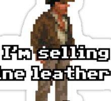 I'm selling these fine leather jackets Sticker