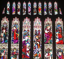 Beautiful Stained Glass Window ~ Bradford Cathedral ~ by Sandra Cockayne