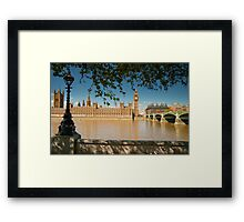 Houses of Parliament from the Southbank: London, UK Framed Print