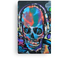 Graffiti Skull+Headphones Canvas Print
