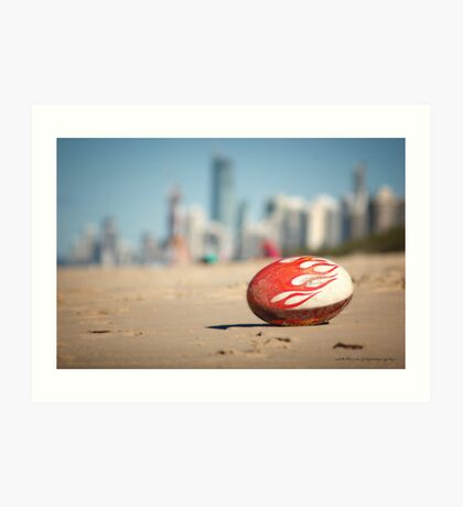 Gold Coast Genuine Dragon Egg - Surfers Beach Football © Vicki Ferrari Photography Art Print