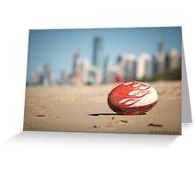 Gold Coast Genuine Dragon Egg - Surfers Beach Football © Vicki Ferrari Photography Greeting Card