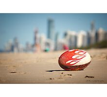 Gold Coast Genuine Dragon Egg - Surfers Beach Football © Vicki Ferrari Photography Photographic Print