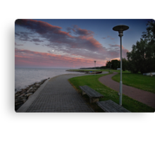 Relaxation place in summer Canvas Print